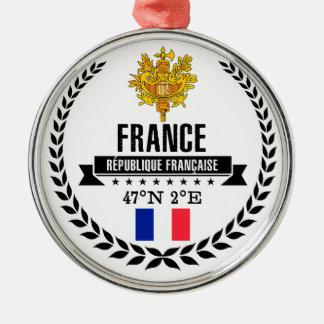 Ornement Rond Argenté La France