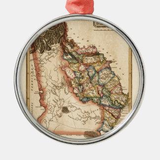 Ornement Rond Argenté La Géorgie 1817