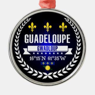 Ornement Rond Argenté La Guadeloupe