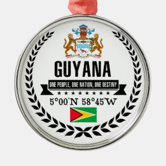 Ornement Rond Argenté La Guyane
