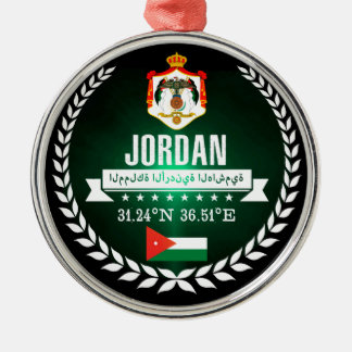 Ornement Rond Argenté La Jordanie