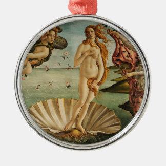 Ornement Rond Argenté La naissance de Vénus - Sandro Botticelli