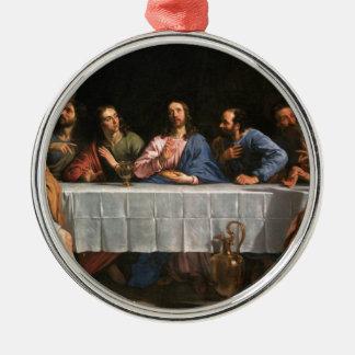 Ornement Rond Argenté La peinture de dernier dîner