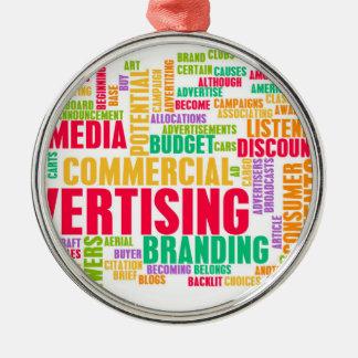 Ornement Rond Argenté La publicité en ligne et dans la méthode
