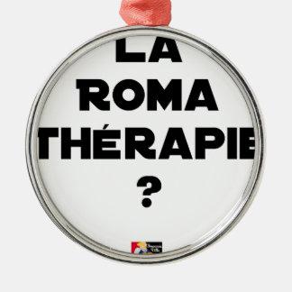 Ornement Rond Argenté LA ROMA THÉRAPIE ? - Jeux de mots - Francois Ville