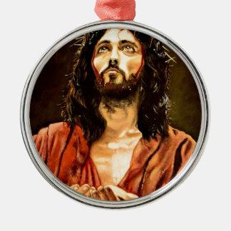 Ornement Rond Argenté La souffrance du Christ.JPG