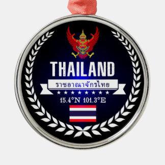 Ornement Rond Argenté La Thaïlande