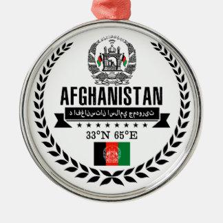 Ornement Rond Argenté L'Afghanistan