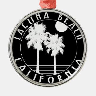 Ornement Rond Argenté Laguna Beach la Californie