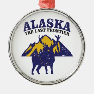 Ornement Rond Argenté L'Alaska la dernière frontière
