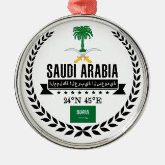 Ornement Rond Argenté L'Arabie Saoudite