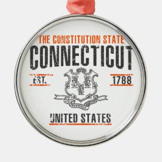 Ornement Rond Argenté Le Connecticut