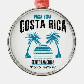 Ornement Rond Argenté Le Costa Rica