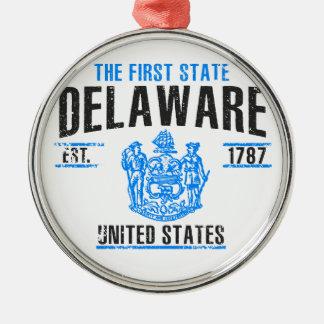 Ornement Rond Argenté Le Delaware