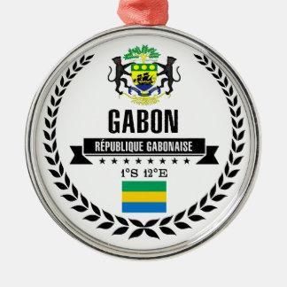 Ornement Rond Argenté Le Gabon