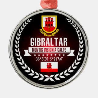 Ornement Rond Argenté Le Gibraltar
