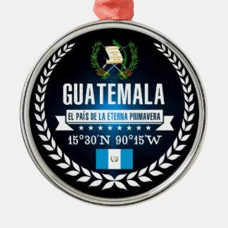 Ornement Rond Argenté Le Guatemala