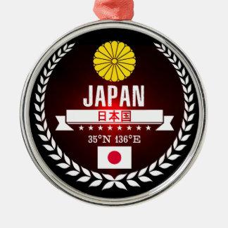 Ornement Rond Argenté Le Japon