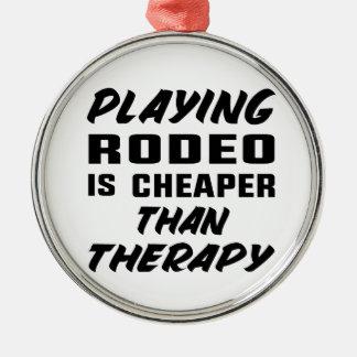 Ornement Rond Argenté Le jeu du rodéo est meilleur marché que la