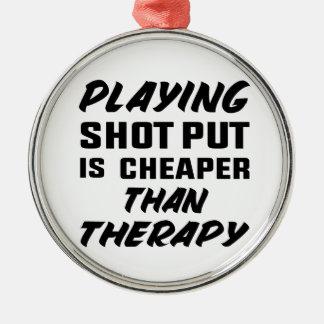 Ornement Rond Argenté Le jeu du tir Put est meilleur marché que la