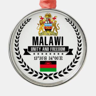 Ornement Rond Argenté Le Malawi