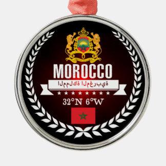 Ornement Rond Argenté Le Maroc
