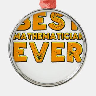 Ornement Rond Argenté Le meilleur mathématicien jamais