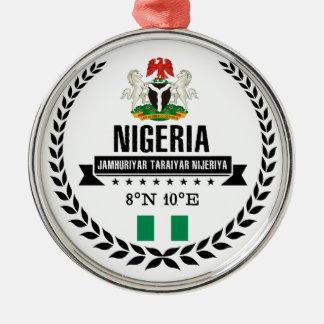 Ornement Rond Argenté Le Nigéria
