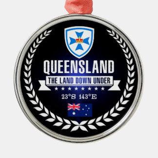 Ornement Rond Argenté Le Queensland