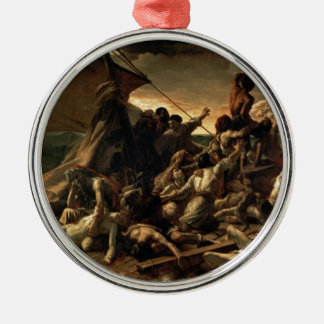 Ornement Rond Argenté Le radeau de la méduse - Géricault