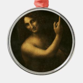 Ornement Rond Argenté Leonardo da Vinci - peinture de Jean-Baptist de