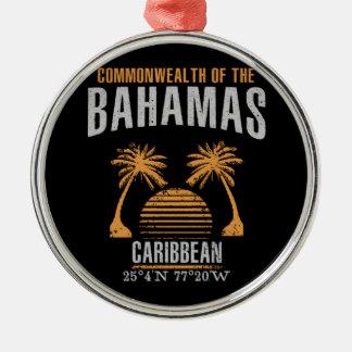 Ornement Rond Argenté Les Bahamas