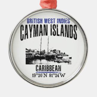 Ornement Rond Argenté Les Îles Caïman