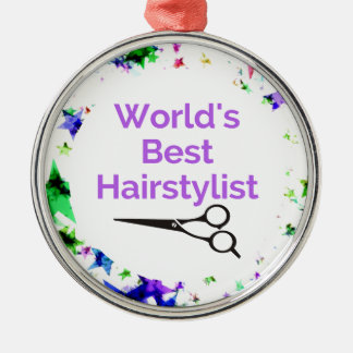 Ornement Rond Argenté Les meilleurs cheveux Stylisit du monde