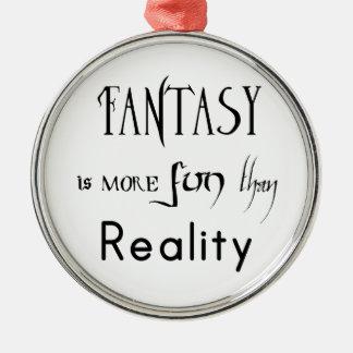 Ornement Rond Argenté L'imaginaire est plus d'amusement que la réalité