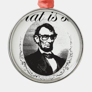 Ornement Rond Argenté Lincoln qui est ainsi quatre-vingt et il y a de