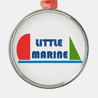 Ornement Rond Argenté little marine