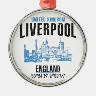 Ornement Rond Argenté Liverpool