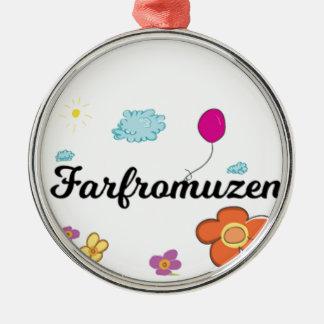 Ornement Rond Argenté Logo de FarFrom Usen