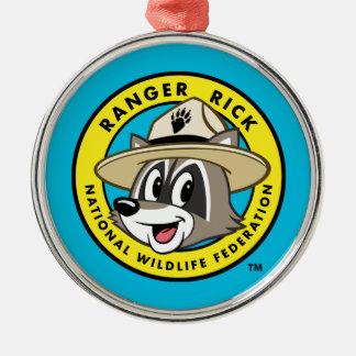 Ornement Rond Argenté Logo de Rick de garde forestière de Rick | de