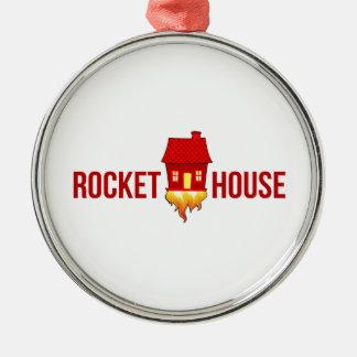 Ornement Rond Argenté Logo T de RocketHouse
