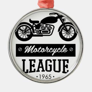Ornement Rond Argenté Logos de collections de moto