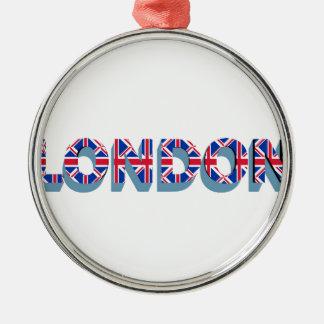 Ornement Rond Argenté Londres