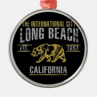Ornement Rond Argenté Long Beach