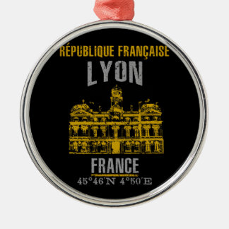 Ornement Rond Argenté Lyon