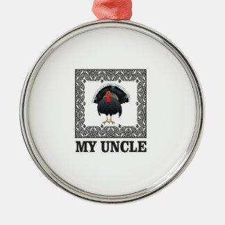 Ornement Rond Argenté ma boîte à dinde d'oncle