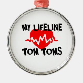 ORNEMENT ROND ARGENTÉ MA LIGNE DE VIE CONCEPTIONS DE MUSIQUE DE TOM TOMS