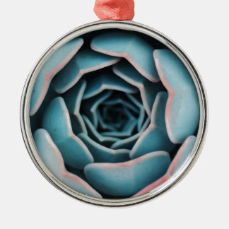 Ornement Rond Argenté Macro impression florale unisexe extraordinaire en