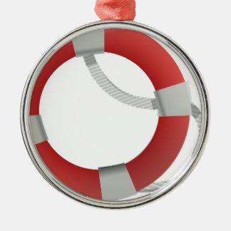 Ornement Rond Argenté Maître nageur