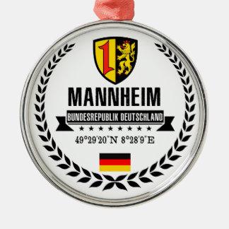 Ornement Rond Argenté Mannheim
